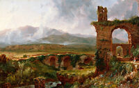 A View Near Tivoli by Thomas Cole 60cm x 38.4cm High Quality Canvas Print
