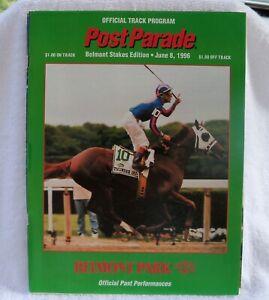 1996 Belmont Stakes Program Editors Note Rene Douglas