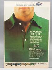 Vintage Magazine Ad Print Design Advertising JC Penney Fox Shirt