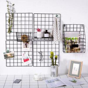 Multi-Function Iron Metal Grid Decor Photo Frame Wall Art Display Mesh US FwPTU