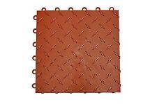 Speedway Garage Tile Mfg. Terra Cotta  Garage Floor Tiles -   Diamond plate