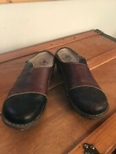 Gently Used El Natura Lista Women's Dark & Chesnut Brown Leather Thick Rubber So