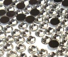185 Hotfix Strasssteine 5mm SS20 CRYSTAL KLAR GLAS STRASS Bügelsteine BEST 35
