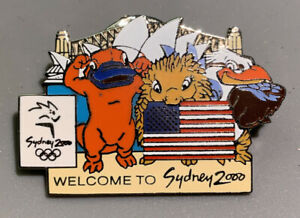 Rare Collectors Pin SYDNEY 2000 OLYMPIC GAMES - USA Team Welcome To Sydney