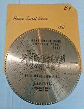 "Vtg . Regina Music Disc . 15 1/2"" . # 1211 - ""Home Sweet Home"""