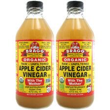 2 bouteilles de Bragg Vinaigre de Cidre (2x473 = 946 ml) brut non filtrée avec M...