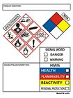 SDS OSHA Labels GHS Chemical Safety Data 4 x 3 Inches   Roll of 250 MSDS Sticker
