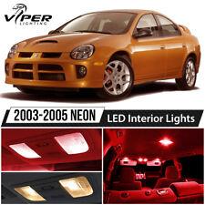 2003-2005 Dodge Neon SRT4 Red LED Interior Lights Package Kit