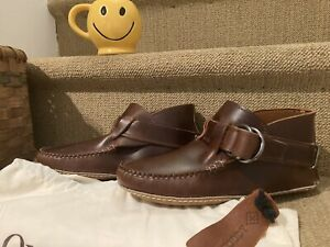 New Quoddy Maine Classic Ring Boot Natural Leather Brown W/ Bag 7 1/2 Women