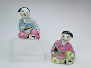 EARLY 20thC. LOVELY PAIR OF CHINA BONE CHINESE PORCELAIN FIGURES CHILDREN