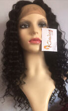 Pre Plucked Full lace wig Brazilian Deep Wave Hair 12""