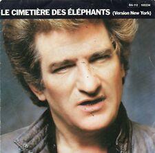 """Eddy Mitchell""""Le cimetière des éléphants"""" 45 t 17 cm 2 titres - Barclay - 1982"""