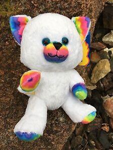 """Build a Bear  8"""" New  Rainbow Kitty Plush Animal Toy"""
