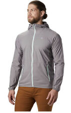 NEW Mountain Hardwear Kor Preshell Hoody Windbreaker Jacket Men's XL Grey