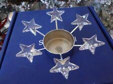 Mib Swarovski Tea Light Candle Holder Stars Christmas Retired 2004-2005 #683981