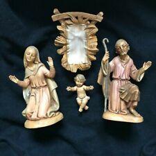 """Fontanini Holy Family Mary, Joseph, Baby Jesus 4 1/2"""" Nativity"""