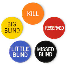 "1"" Poker Button Combo: Little & Big Blind, Kill, Missed Blind, Reserved"
