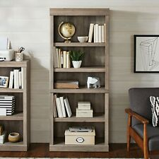 Better Homes & Gardens Glendale 5 Shelf Bookcase, Rustic Gray Finish.