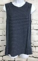 J.Crew Sleeveless Striped Blue 100% Thick Cotton Shell Top Tank Cami EUC XS