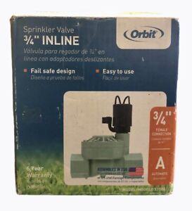"""Orbit WaterMaste 3/4"""" 57100 Automatic In-Line Valve Sprinkler Irrigation"""
