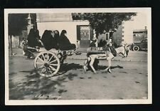 Egyptt Animal DONKEY and cart carrying women 1941 RP PPC