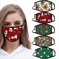 Washable Facemask Reusable Adult Unisex Face Mark Christmas Print