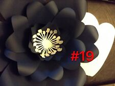 Hard Copy #19 Paper Flower Template, DIY Giant flowers, Backdrops, Decor