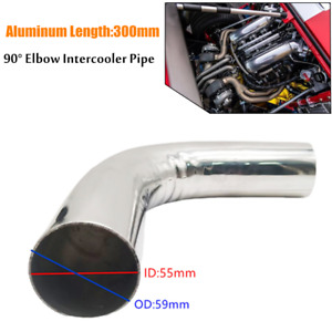 2.36inch 300mm Car 90 Degree Elbow Aluminum Turbo Intercooler Pipe Piping Tubing