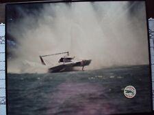 Hydroplane Oh Boy Oberto Boat Picture 16x20 in Plexiglass and U75 Paper Circle