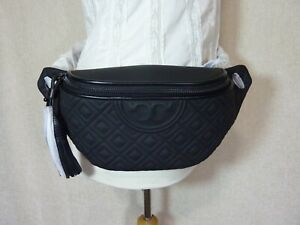 NWT Tory Burch Matte Black Fleming Belt Bag/Fanny Pack $298
