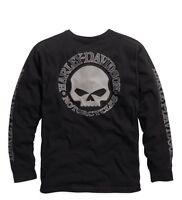 Harley-Davidson Men's Skull Long Sleeve Tee Black Gr. M - Herren Shirt Schwarz