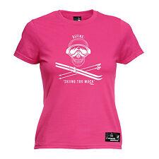 Define Skiing Too Much Womens Powder Monkeez Uk T-Shirt birthday gift ski skier