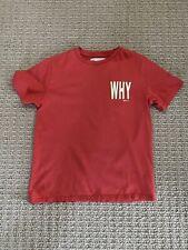 Zara Kids Boys Why Not? Short Sleeve Cotton T-shirt In Orange Red 6-8Y