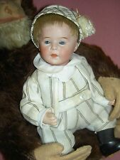 Antique bisque DIP character baby doll by Swaine & Co. Germany, Geschutzt/S&Co.