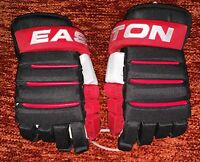 Eastion EQ PRO Roller Inline ICE Hockey Gloves Size 12~NWT~Black/Red Blue/White
