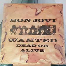 """BON JOVI - Wanted Dead or Alive - 12"""" single - VERTIGO JOV 112 - UK 1987"""