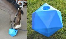 "Equine Horse and Pony Treat Snack Ball. 9"" (6 litre) Feeder BLUE *New*"