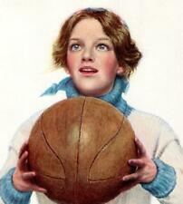 "1910 ""THE BASKETBALL GIRL"" LITHOGRAPH FREDERICK A STOKES COMPANY*SIGNED JR"