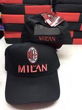 1 CAPPELLO MILAN UFFICIALE CAP OFFICIAL AC MILAN CON VISIERA COTONE 100%