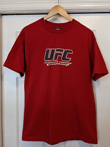 Men's UFC Ultimate Fighting Network Screen Printed Crew Red T-Shirt Large