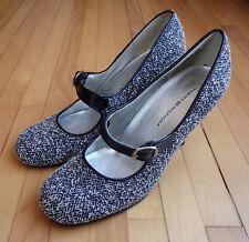 fb43df104 Tommy Hilfiger Womens 7M 7 Black White Herringbone Fabric Mary Jane Pumps  Heels