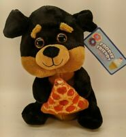 "Foodie Friends Black Bear With Pizza Plush Stuffed Animal 10"" Kellytoy"