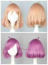 parrucca capelli corto 40 cm Elegante Peach Pink Cosplay fashion synthetic short