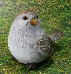 Vogel Landhaus Garten Figur Vögel 12cm Deko grau Spatz Geschäftsauflösung 1V