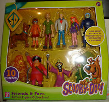 SCOOBY DOO FRIENDS & FOES10 PIECE ACTION FIGURES COLLECTION -DAPHNE-SHAGGY-VELMA