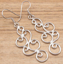Fashion Long Earrings For Girls ! 925 Silver Plated Over Solid Copper ONLINE BUY