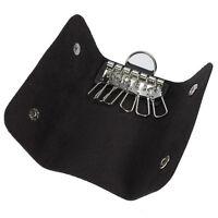 3Color PU Leather Keychain Pouch Bag Wallet Case Purse Keyring Key Holder Keyfob