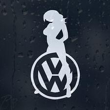 Chica Sexy logotipo coche decal pegatina de vinilo Vw Golf Jetta Passat Bora Scirocco Gti