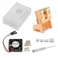 Acrilico Involucro Supporto fotografica Ventilatore Per Raspberry Pi 4 Modello B