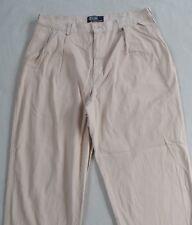 Polo Ralph Lauren Men's Pleated Khaki Chino Dress Pants - Tag 36x30/Actual 34x29